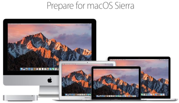 Prepare for macOS Sierra
