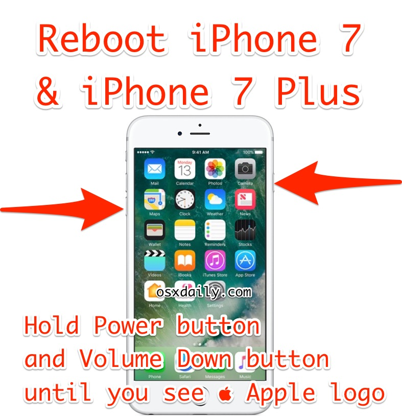 How to reboot iPhone 7 Plus
