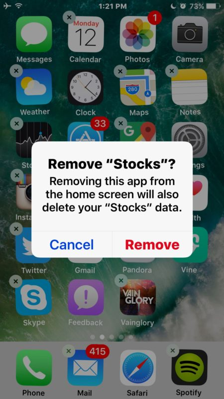 Remove default apps in iOS 10