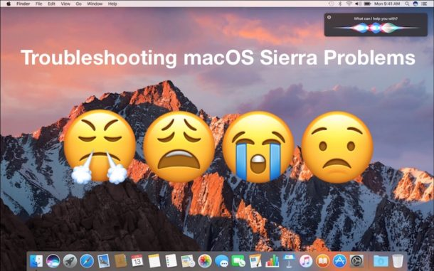 Troubleshooting macOS Sierra problems