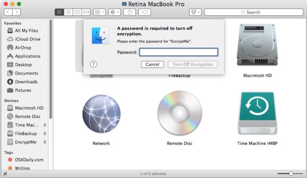 How to Turn Off Encryption on External Drive on Mac to decrypt