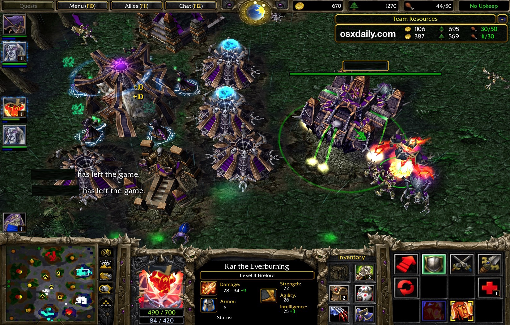 Warcraft 3 playing on Mac