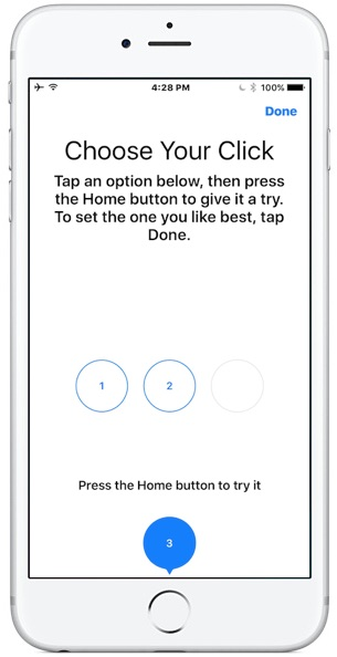 Change the iPhone Home button click strength feedback