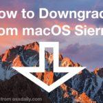 Downgrade macOS Sierra