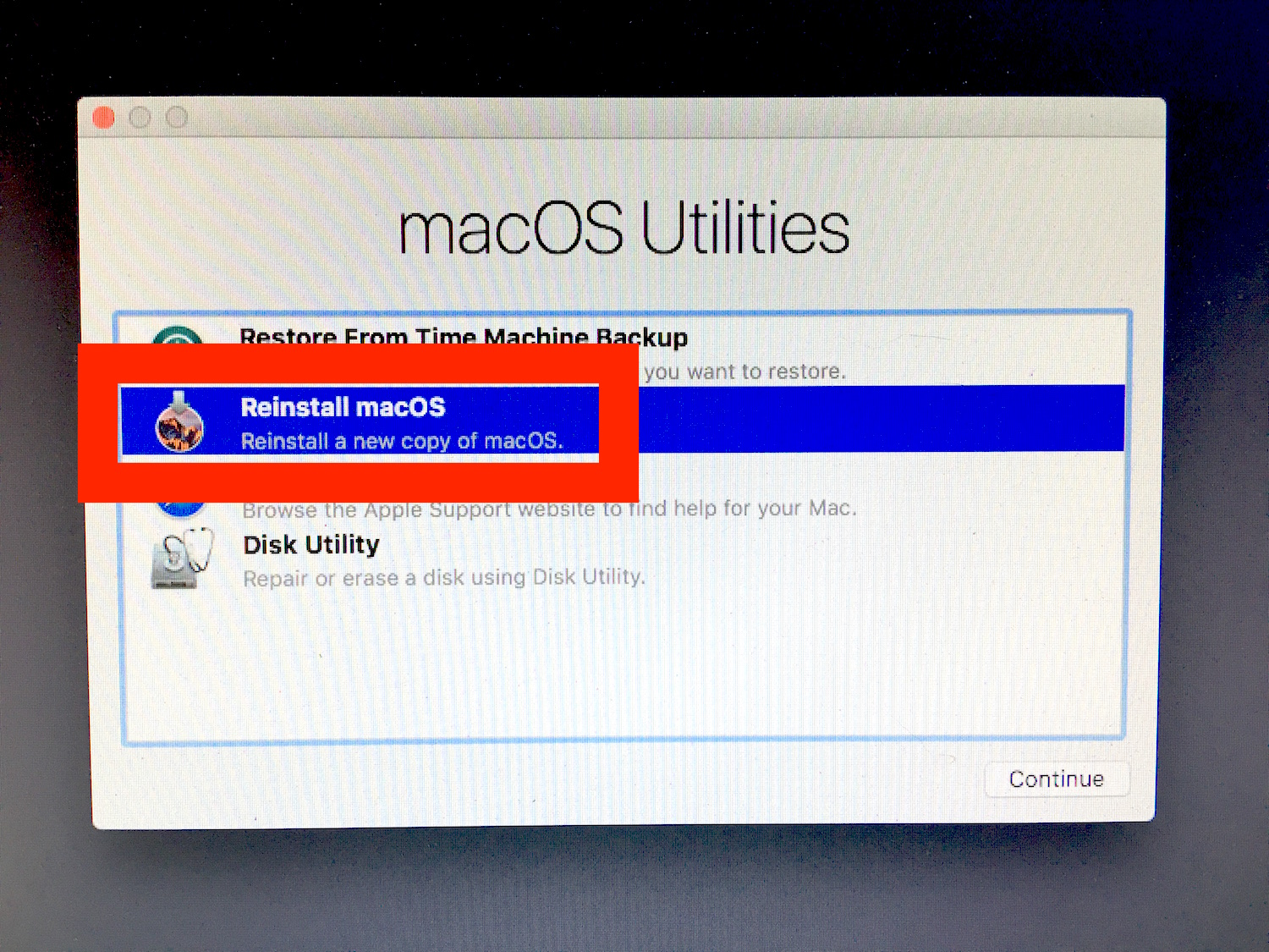 How to reinstall macOS Sierra
