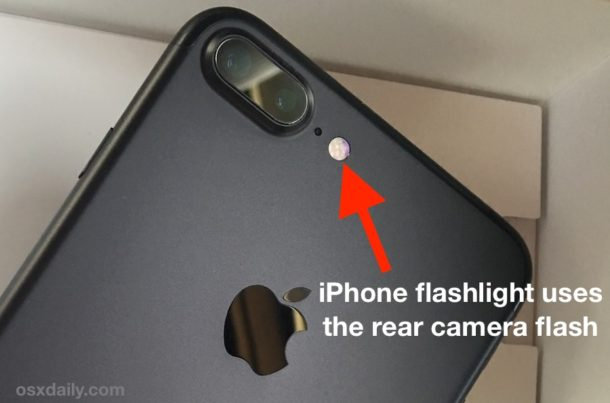 iPhone flashlight uses LED camera flash
