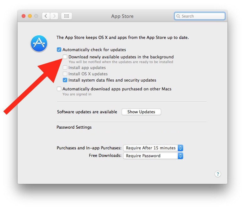 Prevent macOS Sierra from automatically downloading