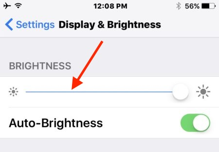How to adjust screen brightness on iPhone