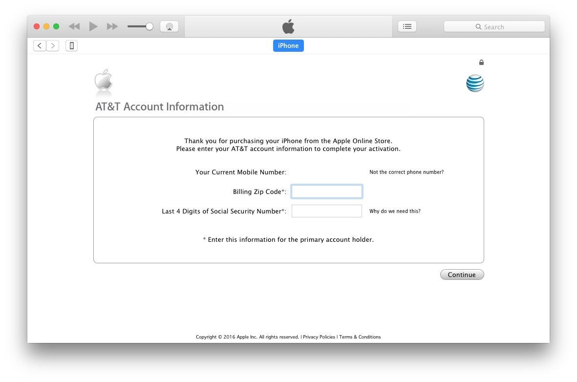 Unlock iPhone 7 from ATT