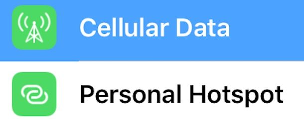 Change wi-fi personal hotspot password in iOS
