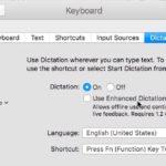 Disabling Enhanced Dictation on Mac