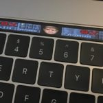 Touch Bar playing the game DOOM