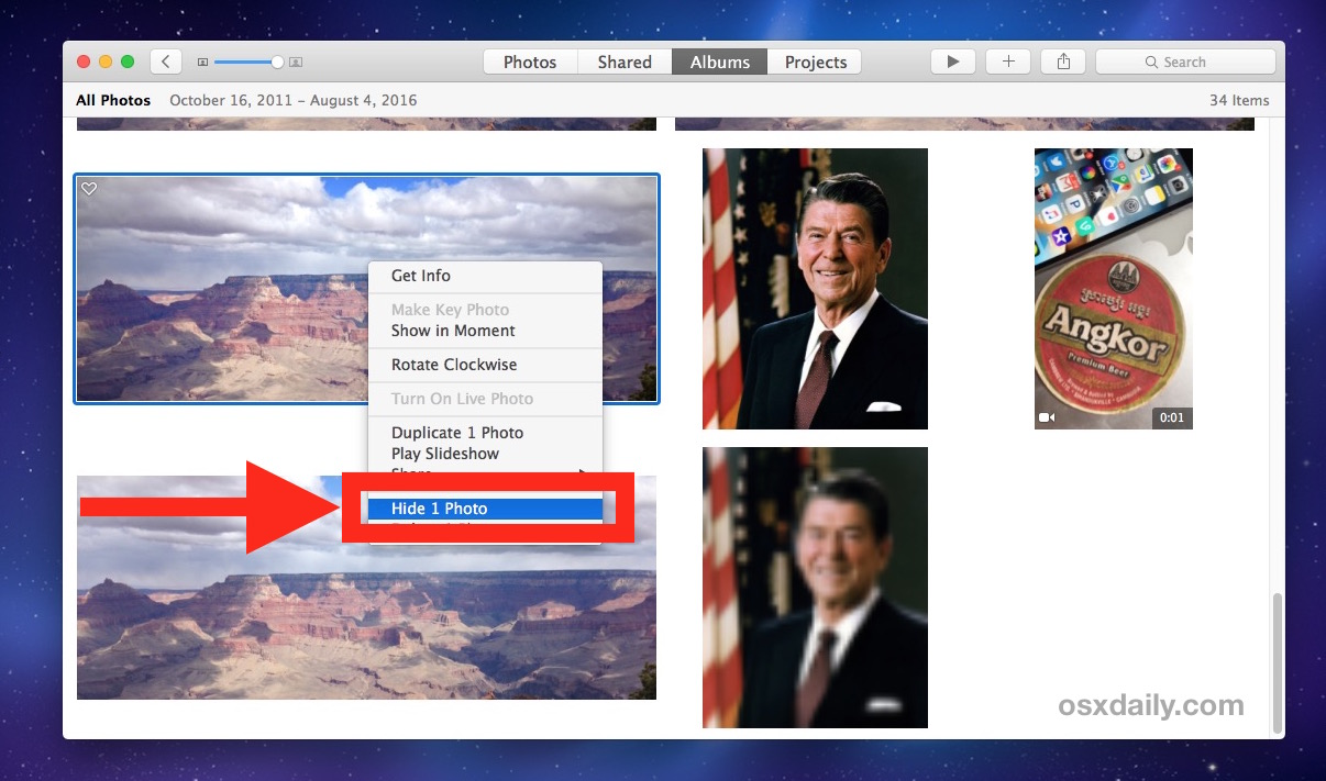 How to Hide Photos on Mac