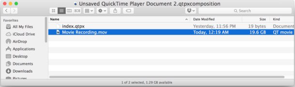 package-contains-lost-quicktime-recording