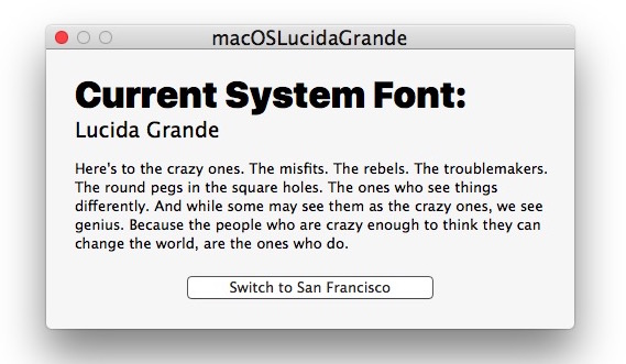 Switch Sierra to Lucida Grande system font
