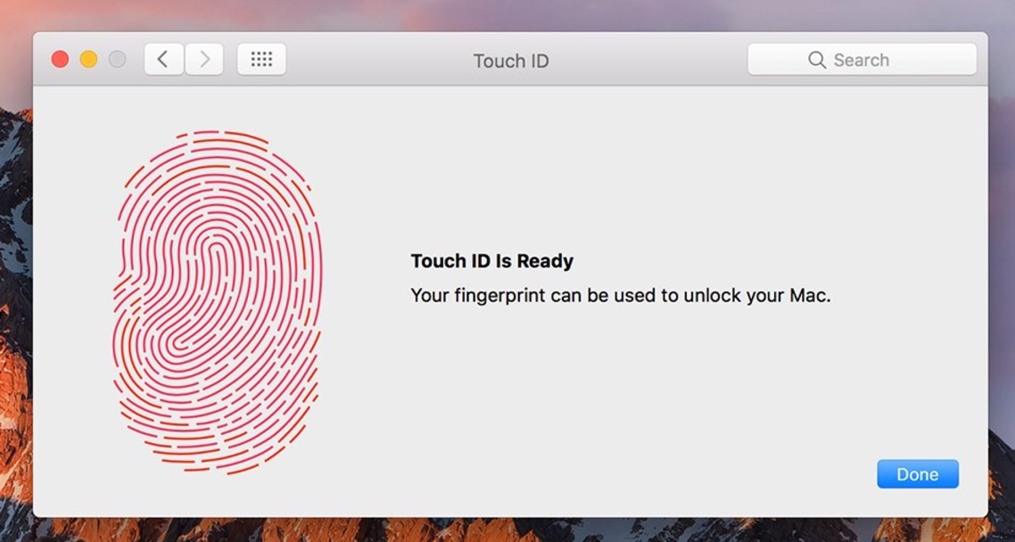 Add new fingerprint to Touch ID on Mac