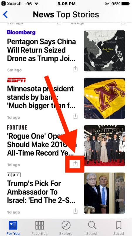 Hide a news source in Apple News