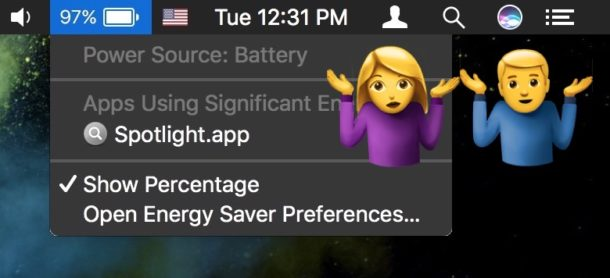 How to check battery life in time remaining under MacOS