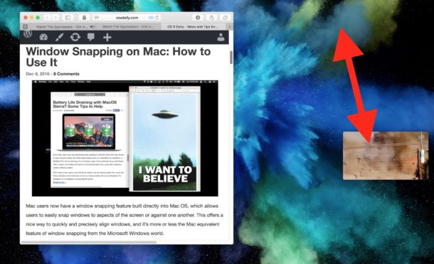 Move the PiP window anywhere on Mac