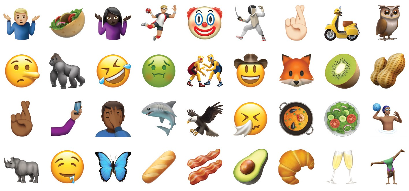 New emoji in iOS 10.2