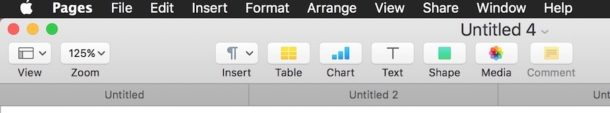 Pages Tabs on Mac