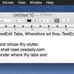 TextEdit tabs on Mac