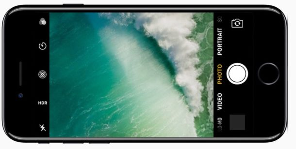 iPhone camera accessed by lock screen