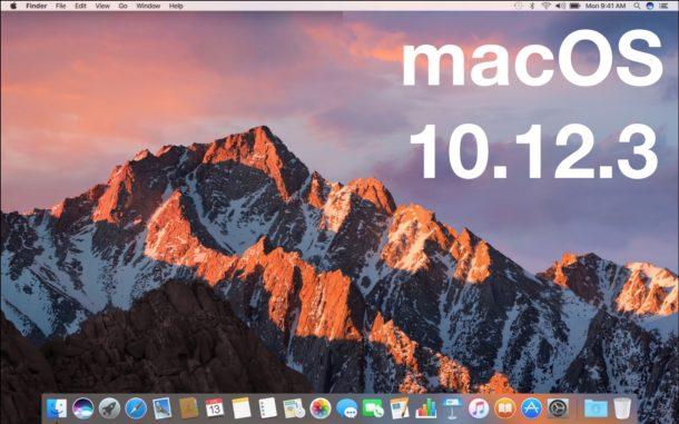 MacOS 10.12.3 update