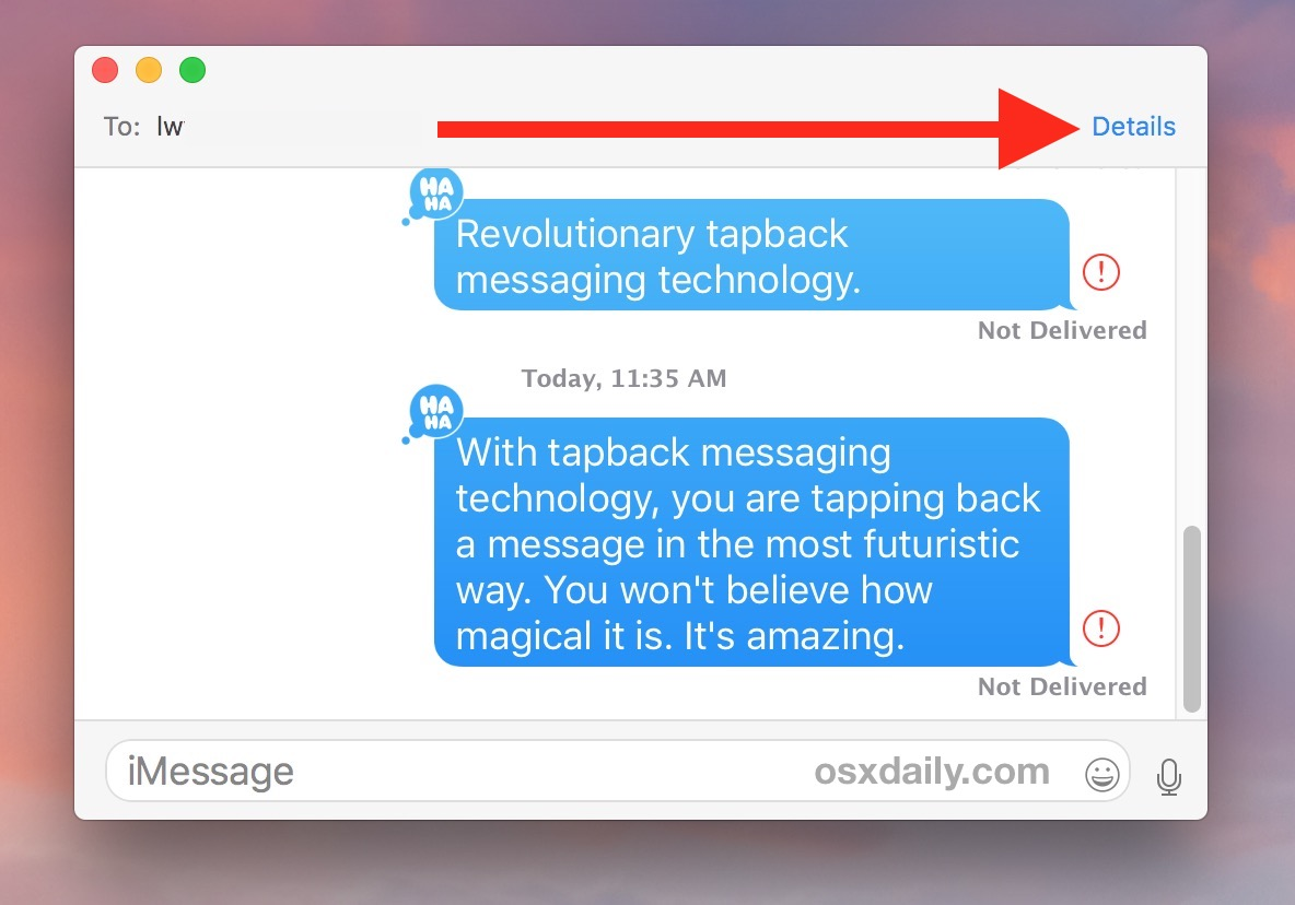 Send read receipts to specific contact in Mac Messages