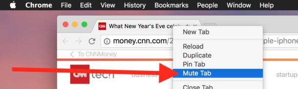 Mute tab in Chrome