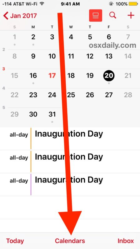 Share Calendar with others from iPhone, iPad