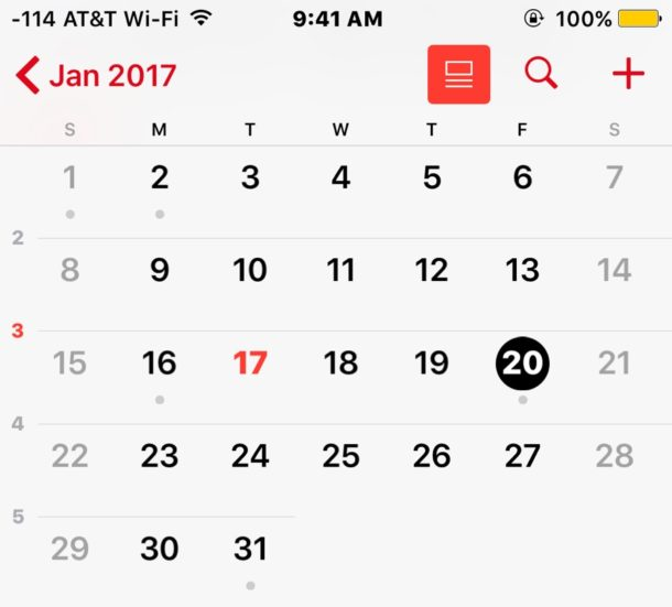 Share Calendars in iOS