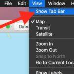 Show tab bar in Maps
