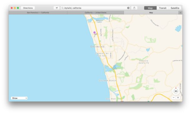 Use Tabs in Apple Maps for Mac
