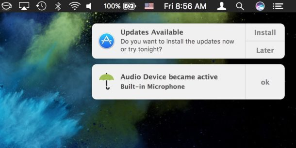 Microphone activated found by Oversight on Mac