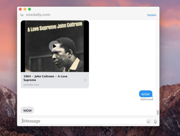 Mute embedded video in Messages