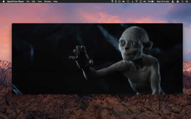 QuickTime is a great video player for Mac and its free with every Mac