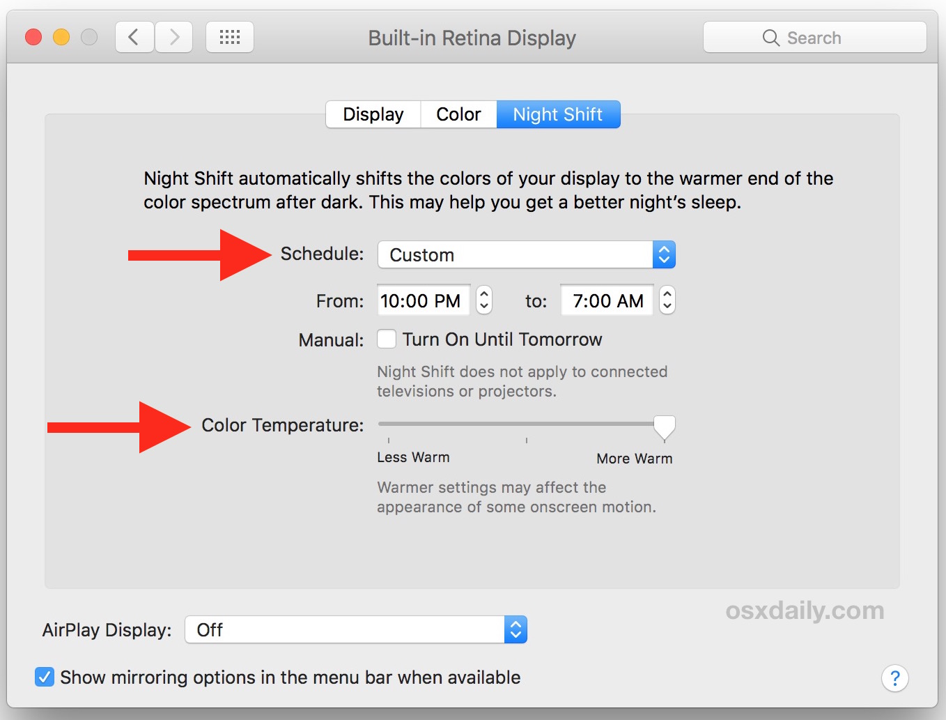 How to Enable Night Shift on Mac