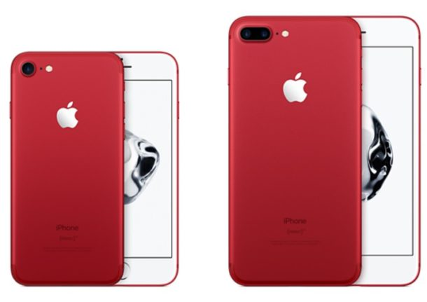 Product Red iPhone 7 models
