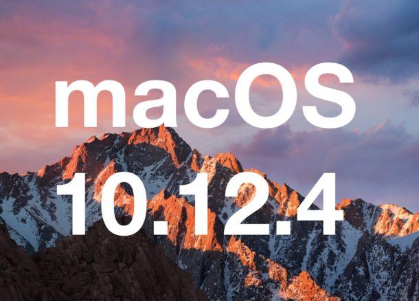 MacOS 10.12.4 update