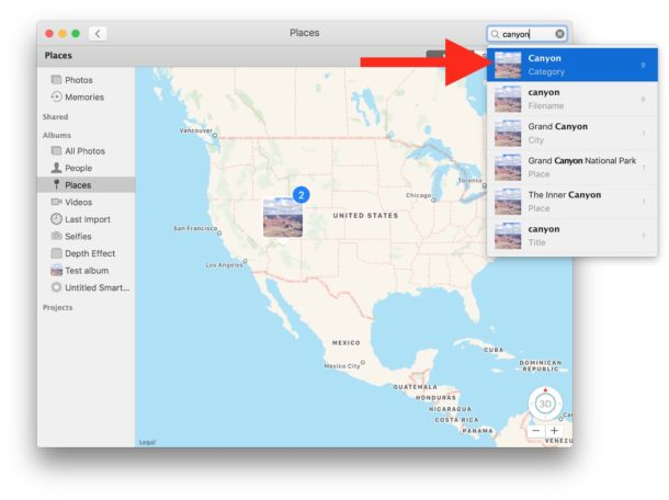 Search Photos on Mac for keyword matches and attributes