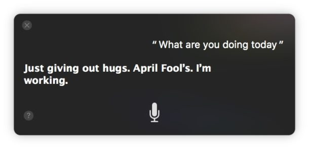 Siri April Fools comments