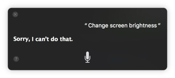 Changing screen brightness on Mac with Siri voice commands that work