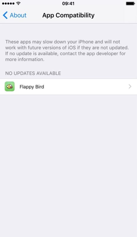 Find 32 bit apps on iPhone and iPad with App Compatibility in iOS