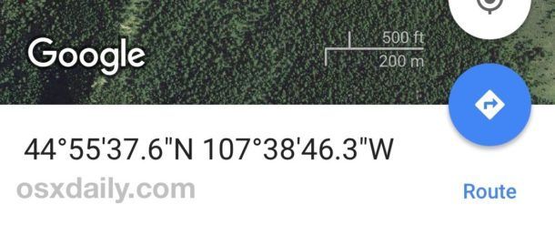 GPS coordinates converted on iPhone with Google Maps