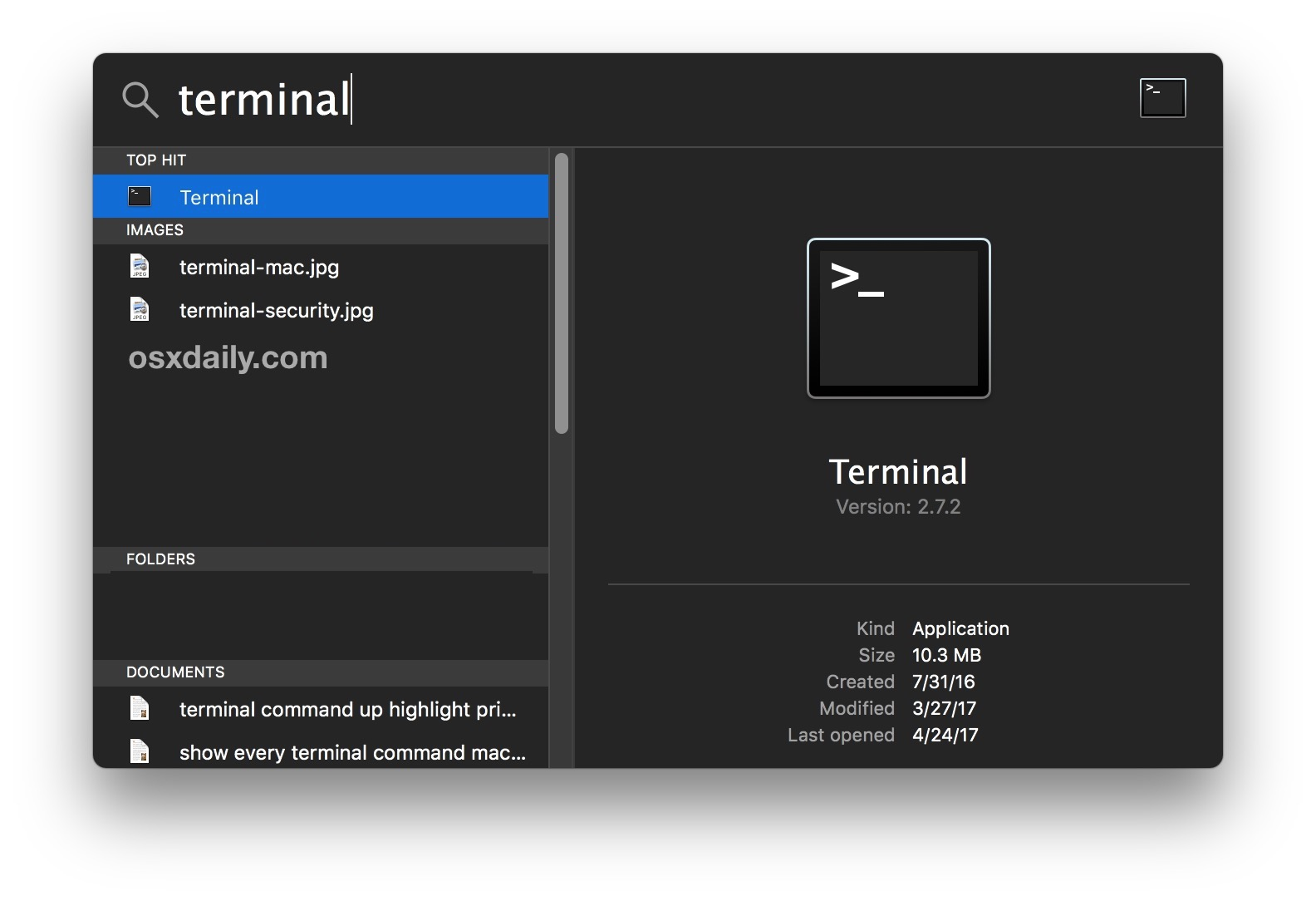 Open Terminal for the Mac SSH client