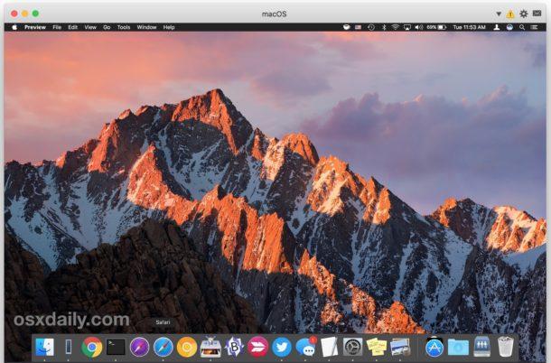 Mac OS running in a virtual machine on Mac