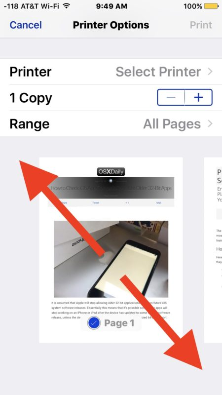 Save as PDF from iPhone or iPad with a spread pinch gesture