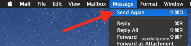 Send Email Messages again in Mac Mail app
