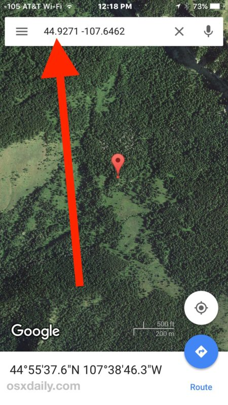 Find location by GPS coordinates on iPhone with Google Maps
